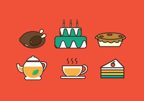 Ícone de festa de comida grátis vetor de ilustração