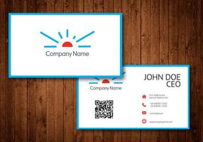 Logotipo de Sun Business Card Template Vector