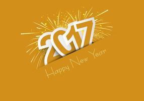 Celebração do feliz ano novo 2017 vetor