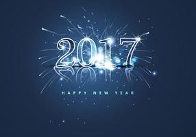 Feliz Ano Novo 2017 Com Cracker de Fogo