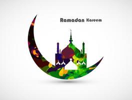 Cartão Ramadan Kareem Decorativo vetor