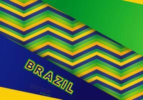 Padrão colorido da bandeira brasileira vetor