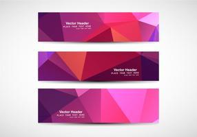 Banner poligonal abstrato vetor
