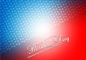 Cartão colorido do presidente dia vetor