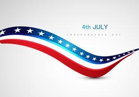 4 de julho Dia da Independência Texto Sobre Fundo Cinzento vetor