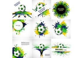 Bandeira para esporte de futebol vetor