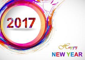 Feliz Ano Novo 2017 Sobre fundo cinza vetor