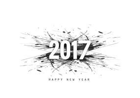 Projeto 2017 do cartão do ano novo vetor