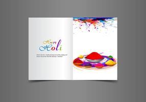 Cartão holi feliz bonito de Holi vetor