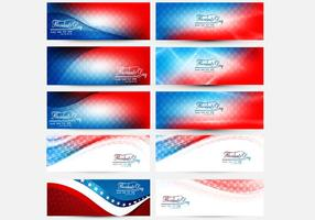 Coleções do Presidente Day Banner vetor