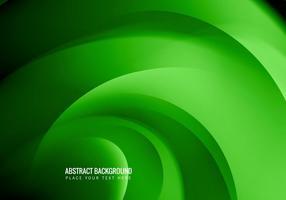 Cartão de visita com cor verde vetor