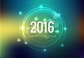 Cartão brilhante do ano novo feliz