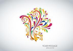 Design Floral Colorido vetor