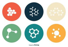Conjunto de ícones vetoriais de nanotecnologia vetor