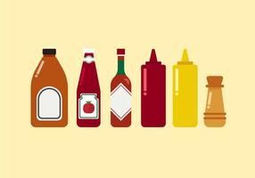 Ketchups de vetores