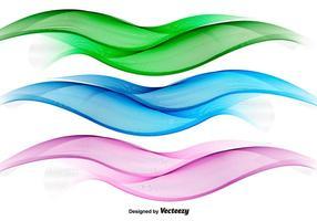Abstratos vetores de ondas coloridas