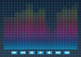 Vector de ilustração de barra de som brilhante