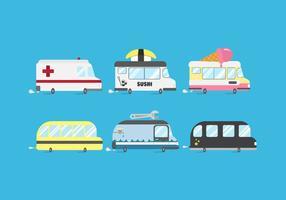 Pacote de minibús de vetores