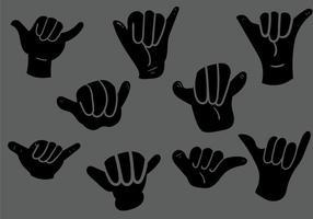 Ilustração vetorial Shaka grátis vetor