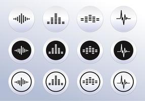 Ícones de onda de som Vector Free
