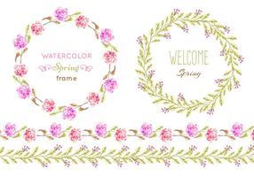 Quadros de vetores florais vetoriais gratuitos
