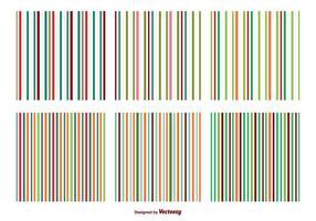Padrões de vetores de listras coloridas