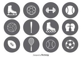 Conjunto de ícones de esportes vetoriais vetor