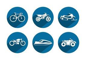 Ícones do vetor do veículo desportivo