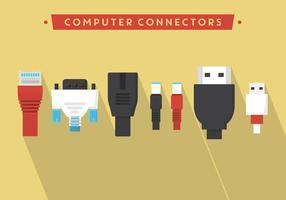 Conectores de vetores de computador