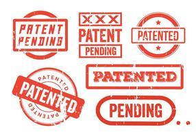 Selos de grunge de patente vetor