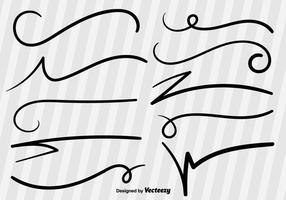 Linhas de vetor de esboço Swish
