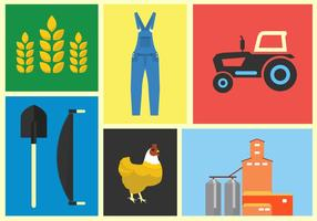 Ilustração vetorial da fazenda vetor