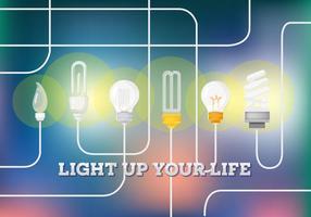 Fundo livre do vetor bulbo de luz