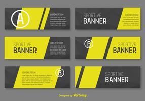 Modelo de vetor de banners corporativos