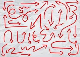 Conjunto de vetores de Doodle Arrows
