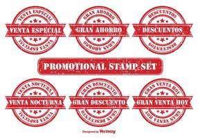 Emblema promocional em espanhol vetor