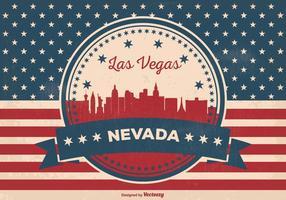 Ilustração retro do horizonte de Las Vegas vetor
