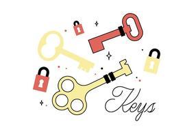 Vetor de chaves livres