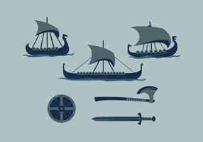 Vetor viking ship 2 grátis