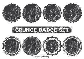 Formas de emblema de estilo grunge