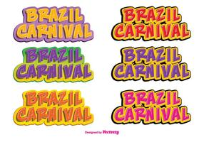 Conjunto de etiquetas de vetores de carnaval no brasil