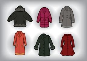 Vector do casaco de inverno