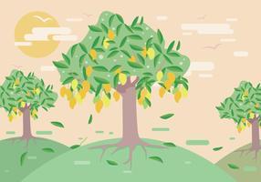 Vetor de árvore de manga