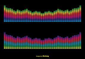 Ilustração colorida das barras de som do vetor