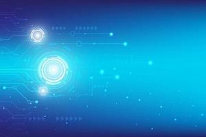 fundo digital azul Oi tecnologia com design de hud vetor
