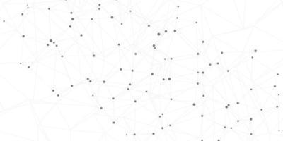 conexões de rede no fundo branco vetor
