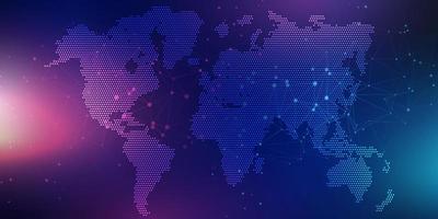 pontos do mapa do mundo vetor
