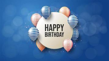 fundo circular feliz aniversário vetor