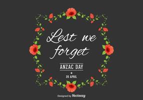 Fundo Anzac Day Vector gratuito