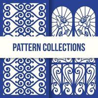 design floral azul padrão decorativo